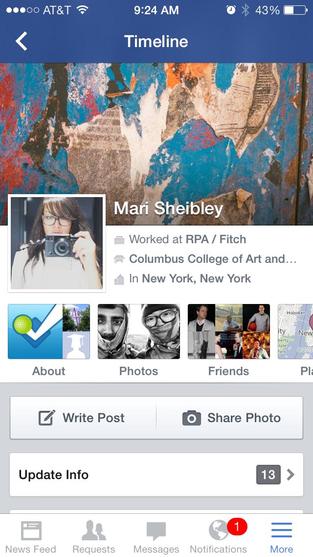 Facebook Screenshots :: Mobile Patterns