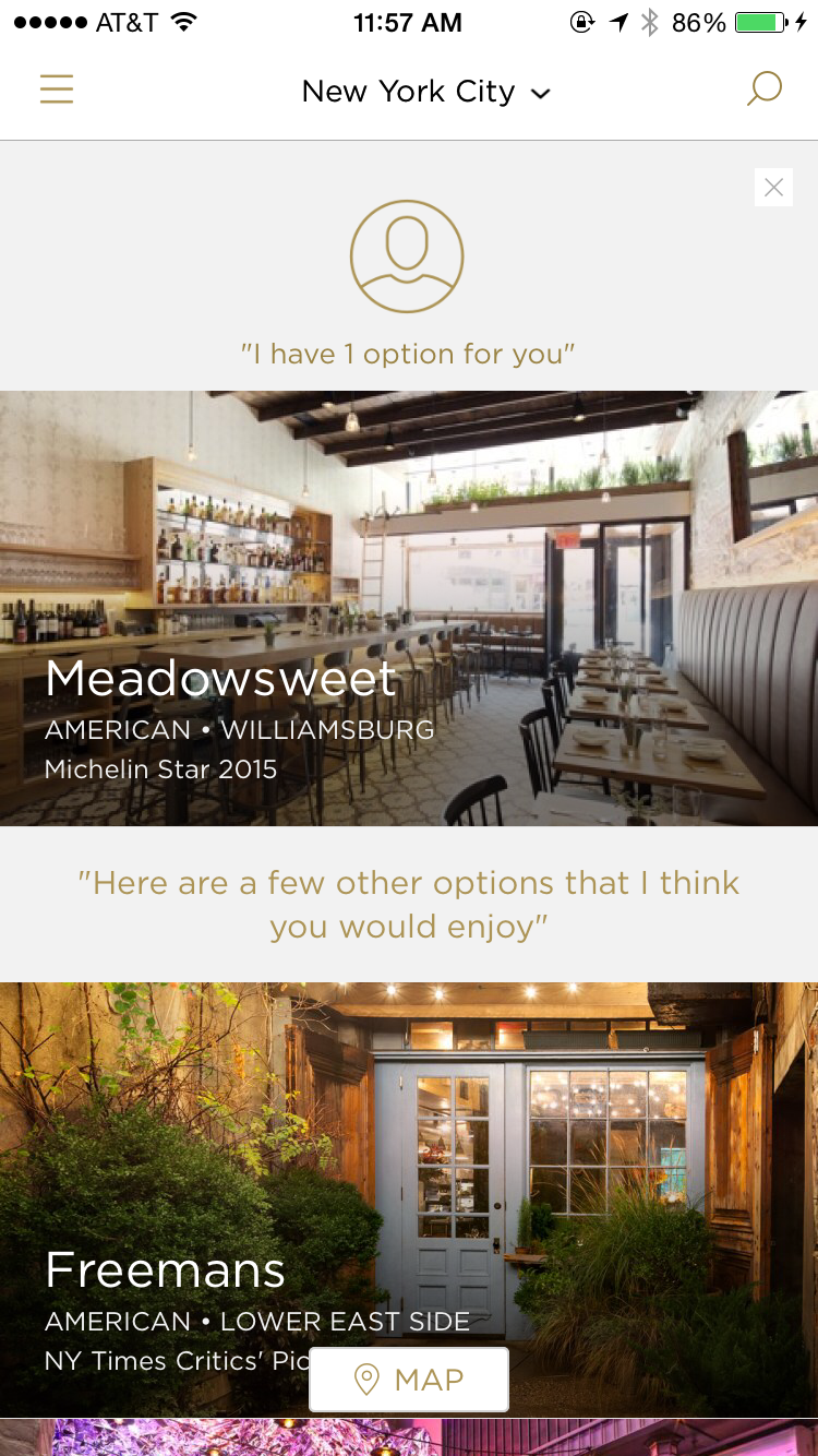 Reserve For Diners IPhone App Lists, Home UI Design