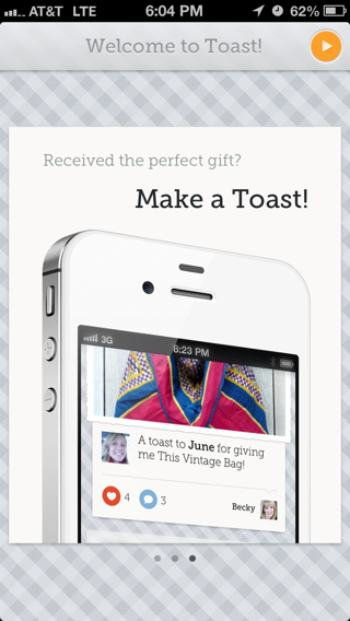 Toast iPhone walkthroughs screenshot