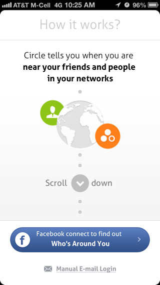 Circle iPhone walkthroughs screenshot