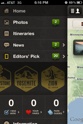 National Geographic iPhone custom navigation screenshot