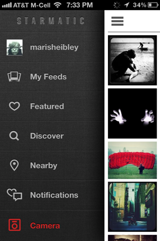 Starmatic iPhone custom navigation screenshot