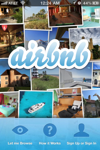Airbnb iPhone sign up flows screenshot