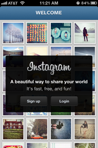 Instagram iPhone sign up flows screenshot