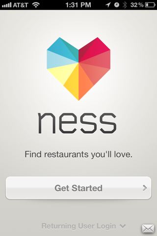 Ness iPhone sign up flows screenshot