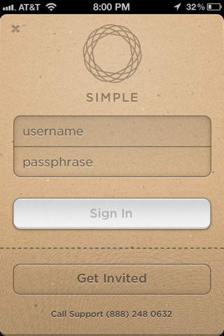 Simple iPhone sign up flows screenshot