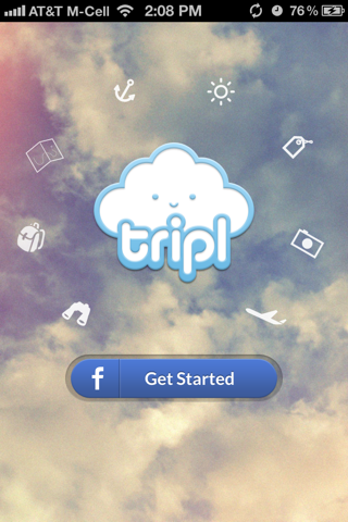 Tripl iPhone sign up flows screenshot