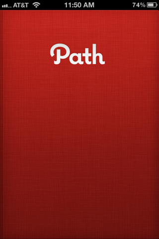 Path iPhone splash screens screenshot
