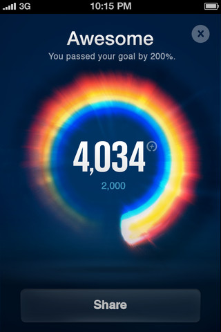 Nike Fuel Band iPhone stats screenshot