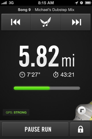 Nike Plus iPhone stats screenshot