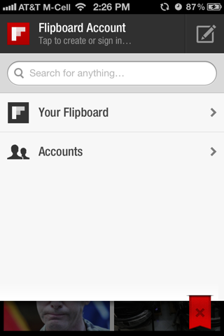Flipboard iPhone search screenshot