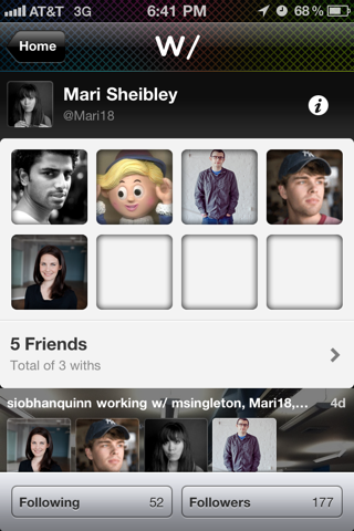 With iPhone user profiles screenshot
