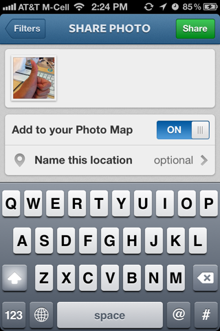 Instagram iPhone compose screens screenshot