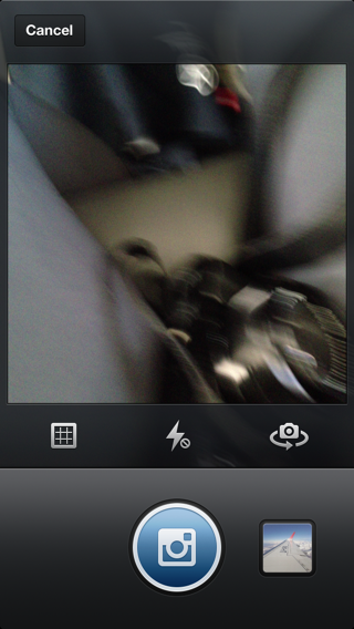 Instagram iPhone camera controller screenshot