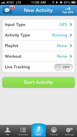 Runkeeper iPhone  screenshot