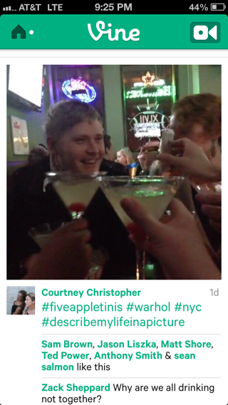 Vine iPhone feeds screenshot