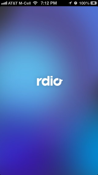Rdio iPhone splash screens screenshot