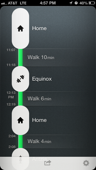 Moves iPhone timelines screenshot