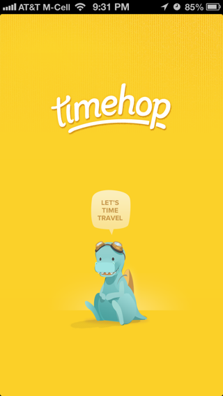 Timehop iPhone splash screens screenshot