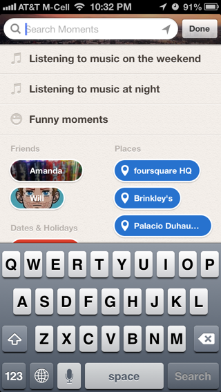Path iPhone search screenshot