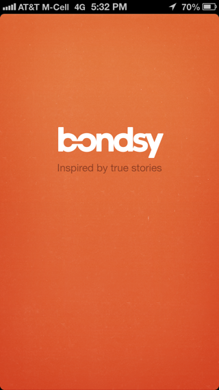 Bondsy iPhone splash screens screenshot