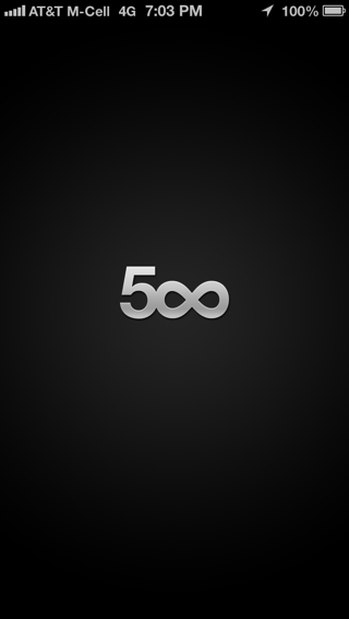 500px iPhone splash screens screenshot
