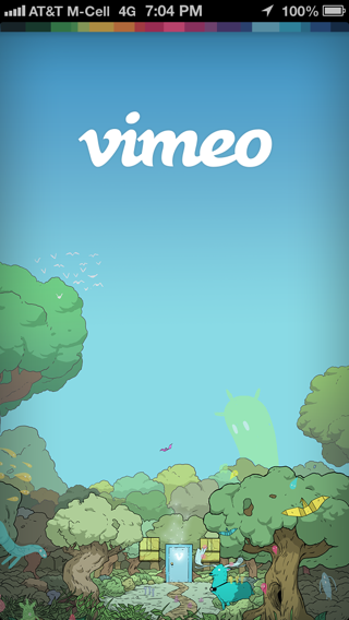 Vimeo iPhone splash screens screenshot
