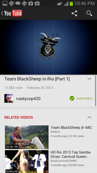 YouTube Android detail views screenshot