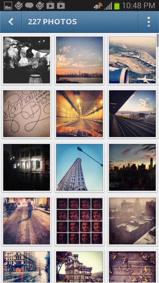Instagram Android galleries screenshot