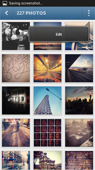 Instagram Android popovers screenshot