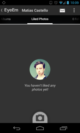 EyeEm Android empty data sets screenshot