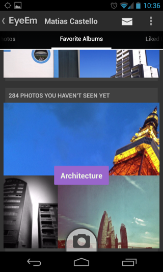 EyeEm Android feeds screenshot