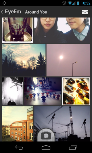 EyeEm Android galleries screenshot