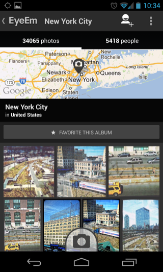 EyeEm Android detail views screenshot
