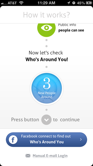 Circle iPhone walkthroughs screenshot