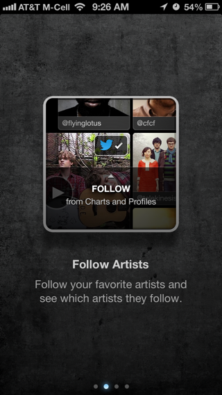 Twitter Music iPhone walkthroughs screenshot