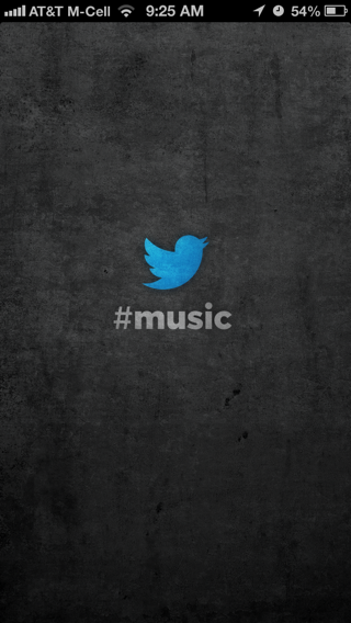 Twitter Music iPhone splash screens screenshot