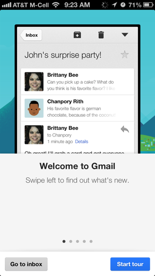 Gmail iPhone walkthroughs screenshot