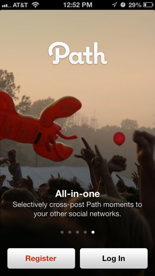 Path iPhone walkthroughs screenshot