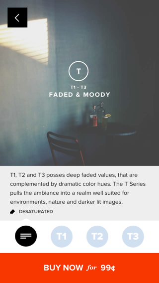 VSCO iPhone detail views, store screenshot