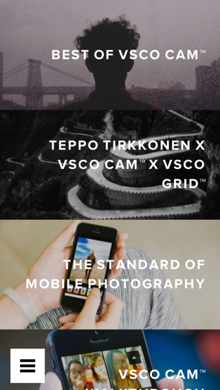 VSCO iPhone lists, discover screenshot
