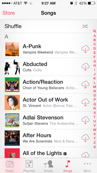 iTunes iPhone lists screenshot