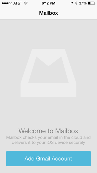 Mailbox iPhone walkthroughs, sign up flows screenshot