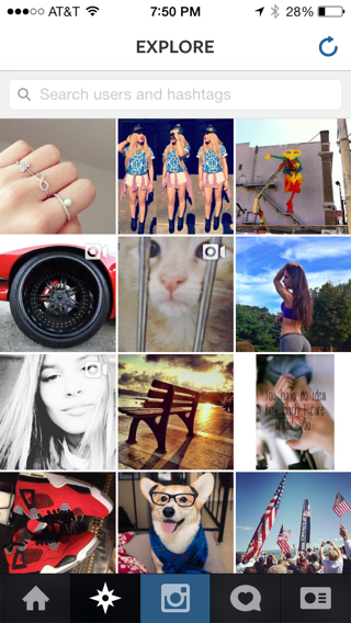 Instagram iPhone galleries screenshot