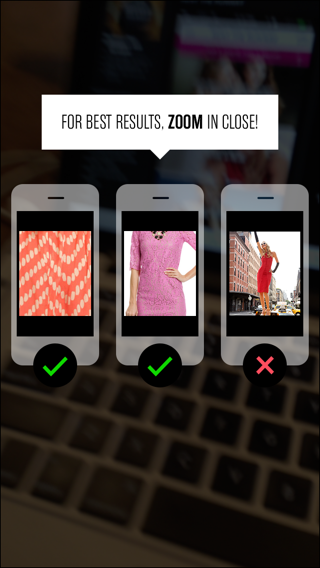 Rent The Runway iPhone coach marks screenshot