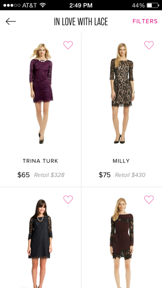 Rent The Runway iPhone  screenshot