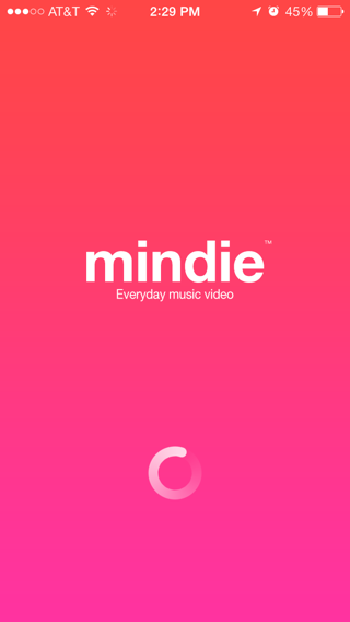 Mindie iPhone loading views screenshot