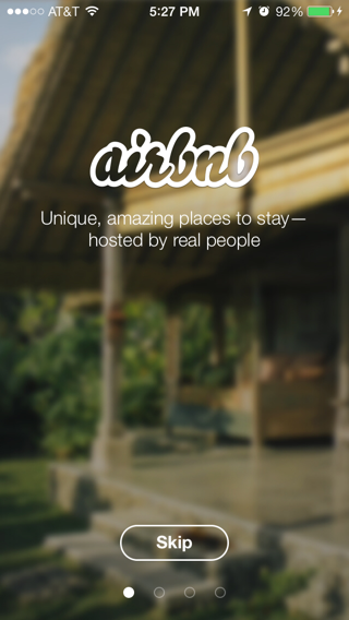 Airbnb iPhone walkthroughs screenshot