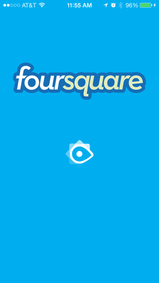 Foursquare iPhone loading views, splash screens screenshot