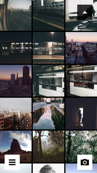 VSCO iPhone grid, photo gallery screenshot